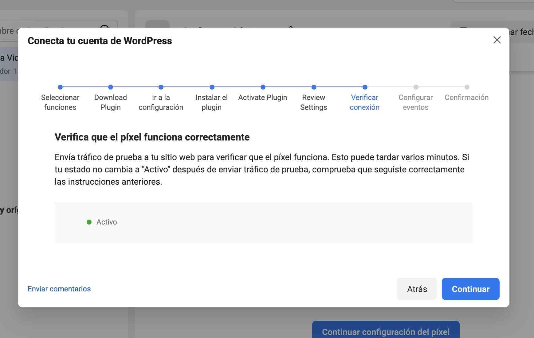 Cómo ver si el píxel de Facebook está activo