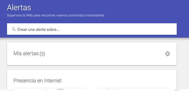 Buscador de alertas de Google