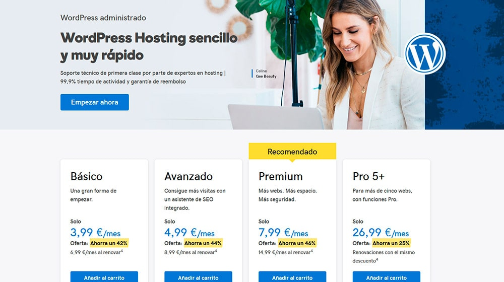 Elegir un plan de hosting para un blog WordPress