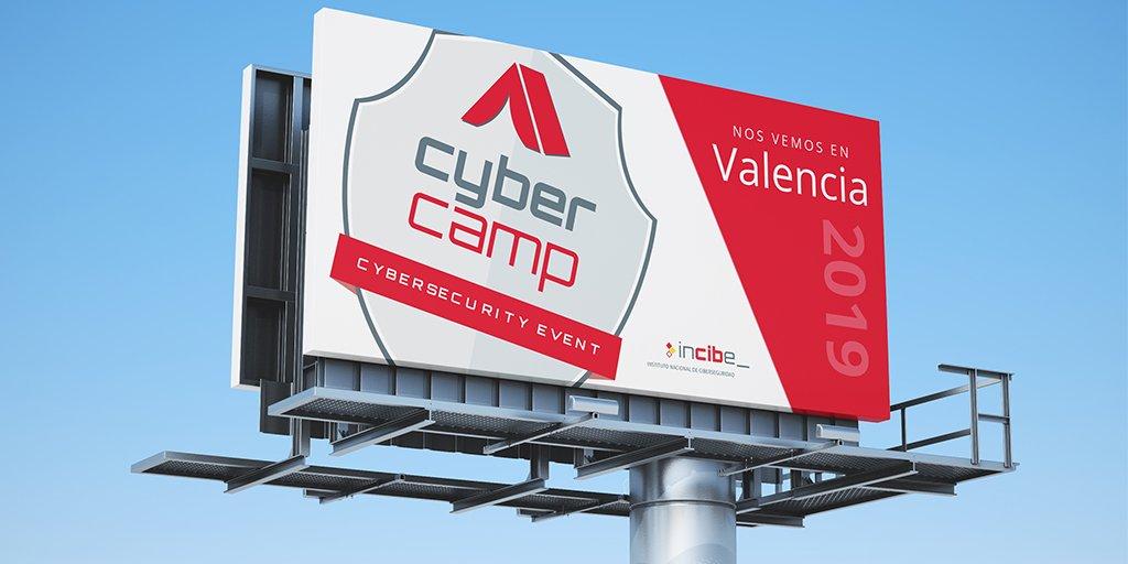 Imagen con el logo de Cybercamp 2019, que se celebrará este año en Valencia