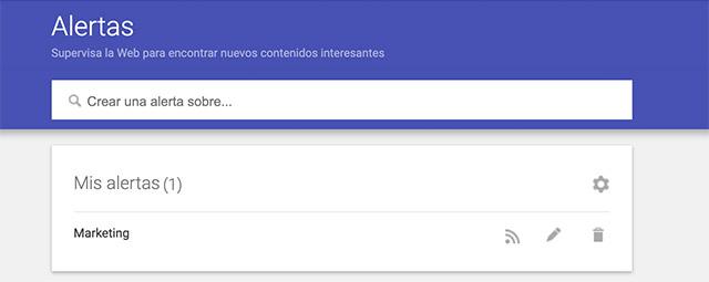 Editar las alertas de Google
