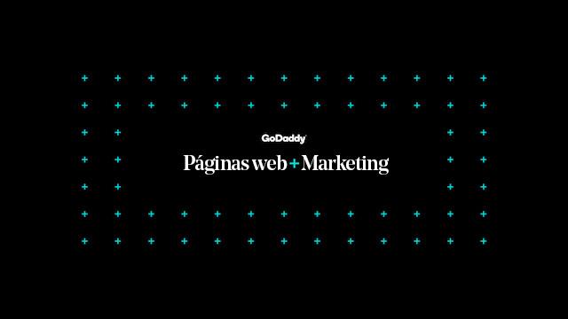 Logo de los planes de Páginas web + Marketing con fondo en negro