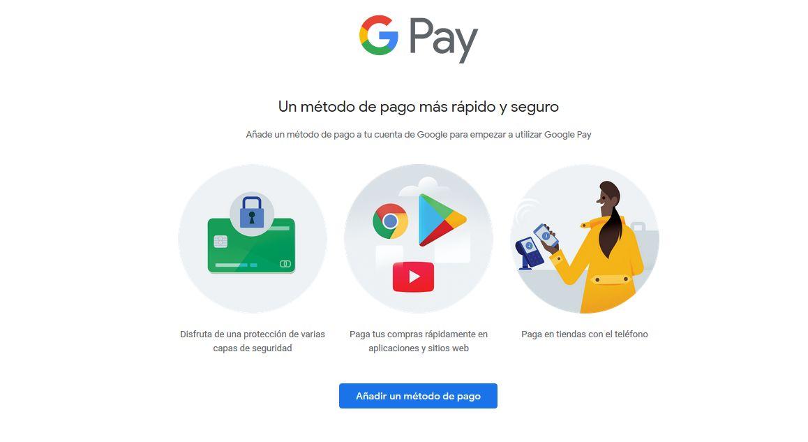 Imagen de Pay, servicio de Google, vista desde la página web.