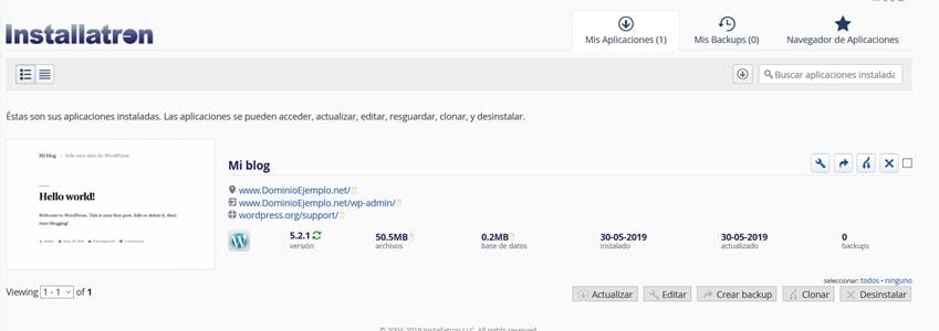 WordPress instalado