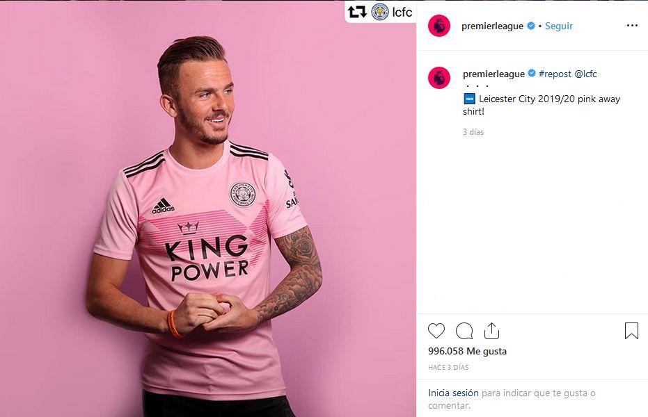 Imagen de la cuenta de la Premier League inglesa donde aprovechan el contenido publicado por el Leicester City para su perfil de Instagram