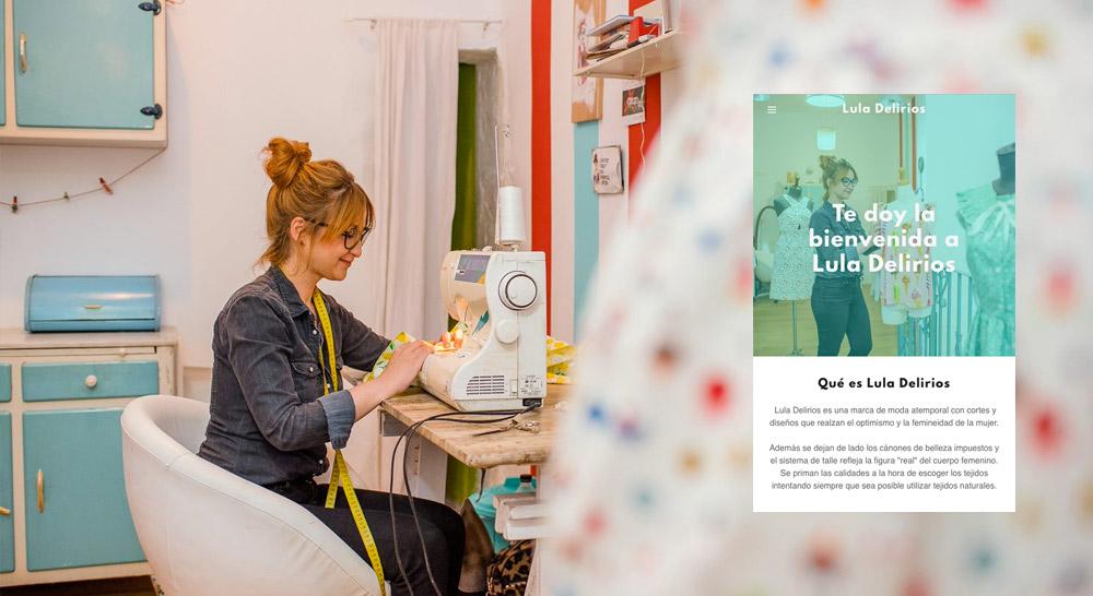 Captura de pantalla de Lula Delirios, cliente de los planes de Páginas web + Marketing de GoDaddy