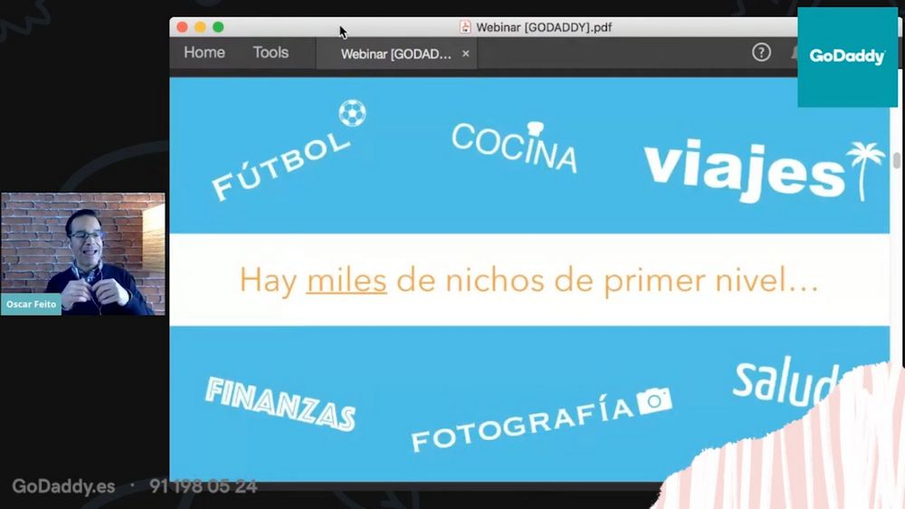 Imagen del webinar de Óscar Feito sobre nichos de mercado