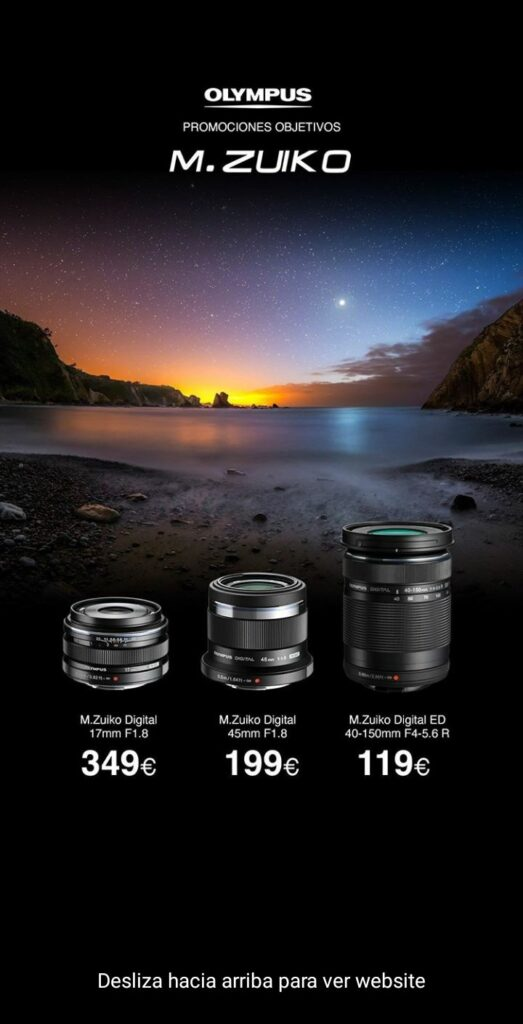 Imagen de un anuncio en Instagram de las cámaras Olympus