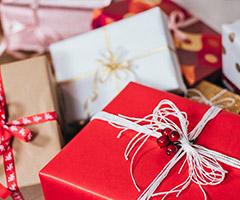Paquetes de regalo para Navidad