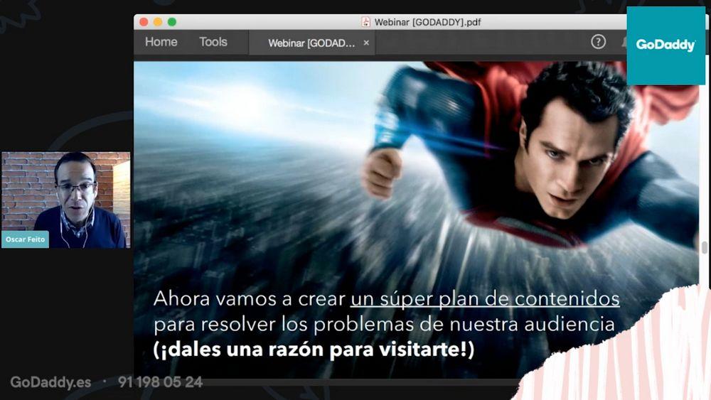 Imagen del webinar de Óscar Feito sobre planes de contenido de marketing, clave para empezar un negocio online