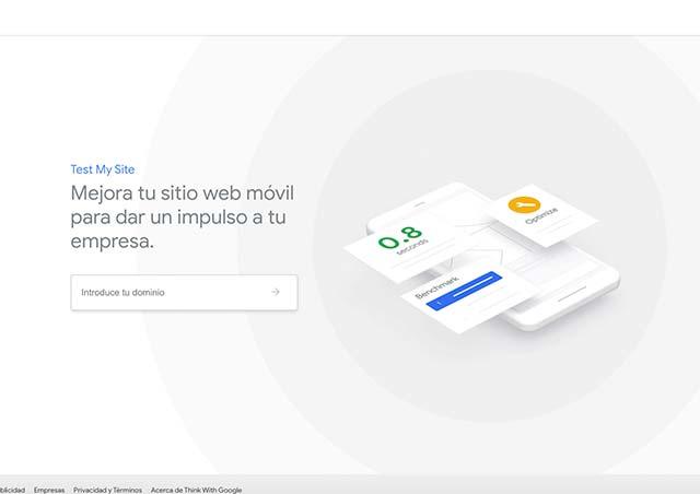 Test de velocidad web