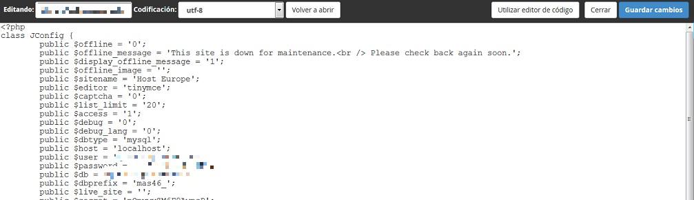 Pantalla texto programacion cambiar URL
