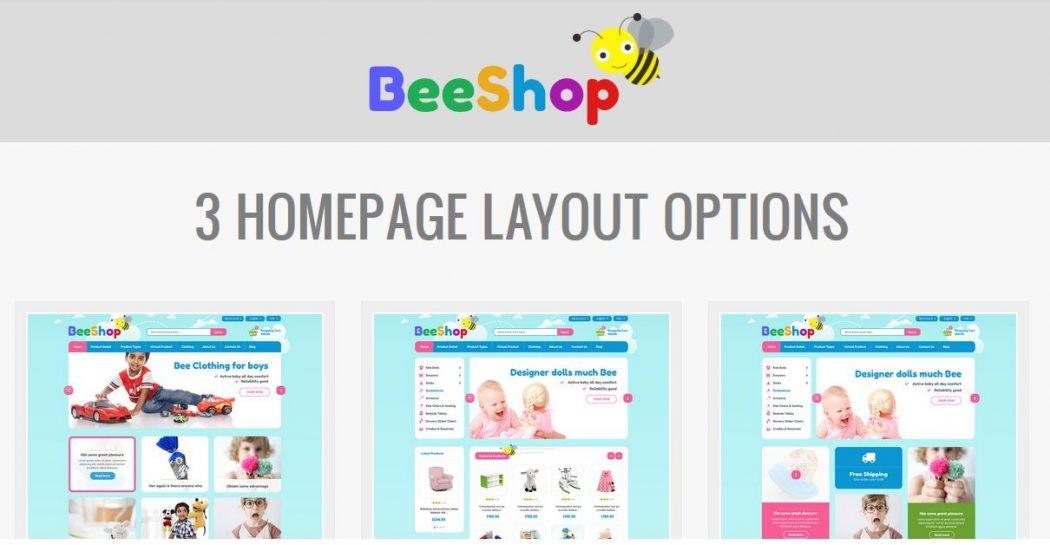 Plantilla gratis para Magento Beeshop