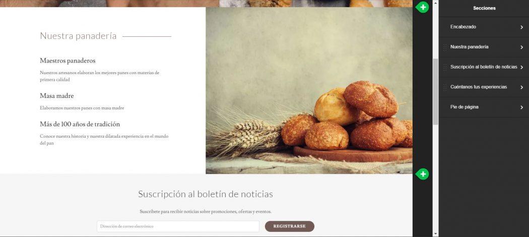 Crea secciones nuevas con el creador de sitios de Godaddy