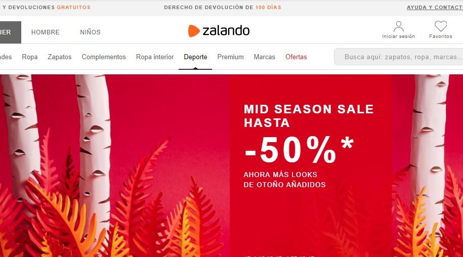 Ejemplo logo enlazado a la home de Zalando