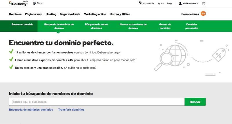 Cómo registrar un dominio en GoDaddy
