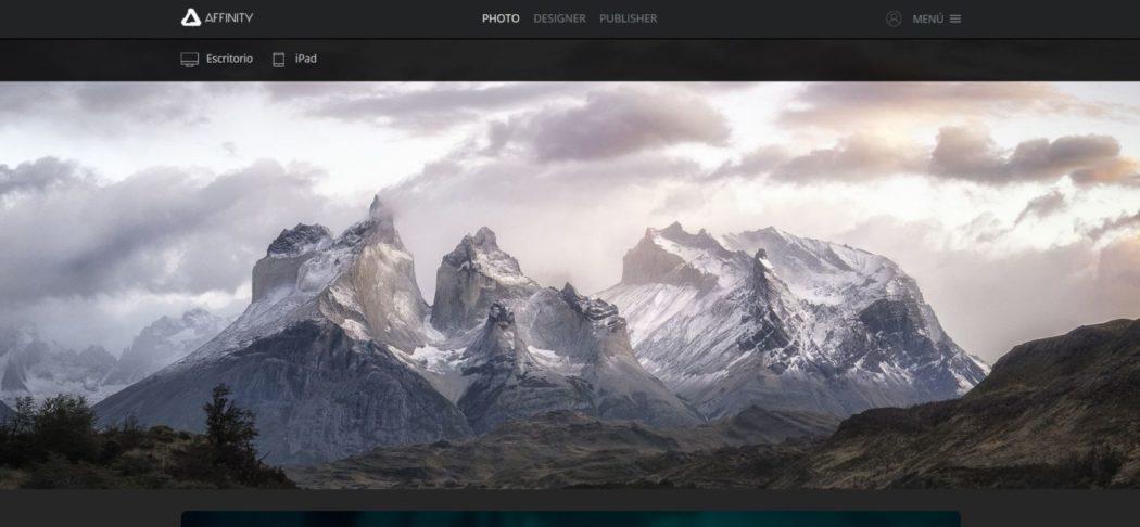 Imagen de la web de Affinity Photo, una alterntiva poco conocida pero muy interesante a Photoshop