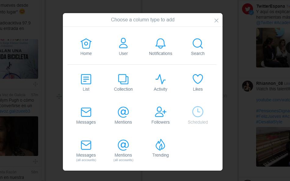 Mejores herramientas para redes sociales: TweetDeck