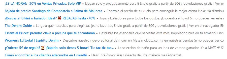 Ejemplo de asuntos de email para tu estrategia de email marketing