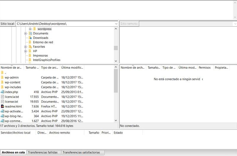 Imagen de dónde buscar la carpeta public_html en Filezilla