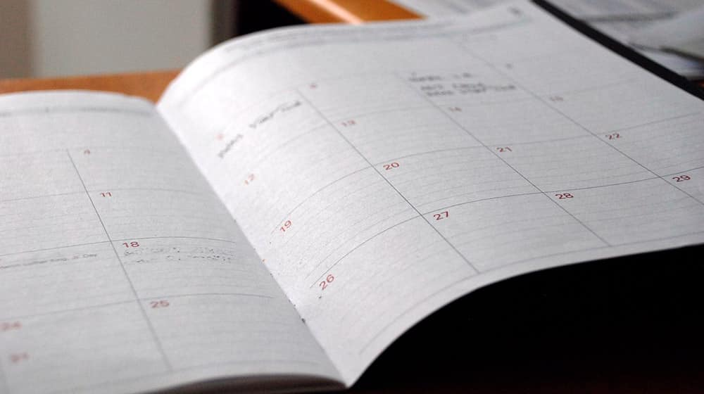 Calendario negocio de mantenimiento en WordPress