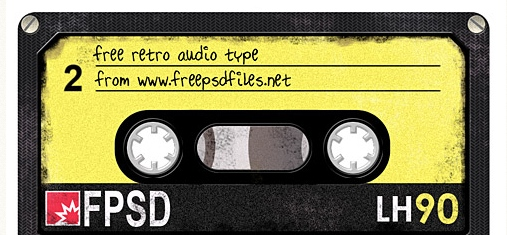 cinta de audio retro