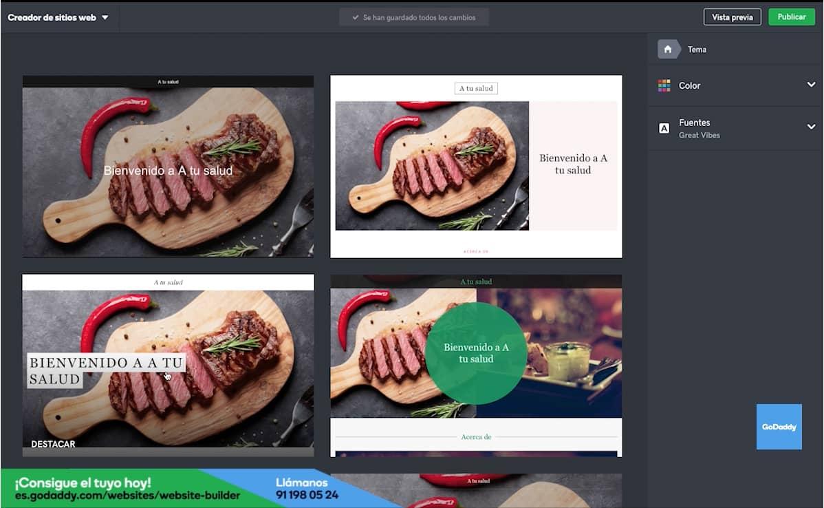 Cómo hacer la página web de tu restaurante: Paso 2