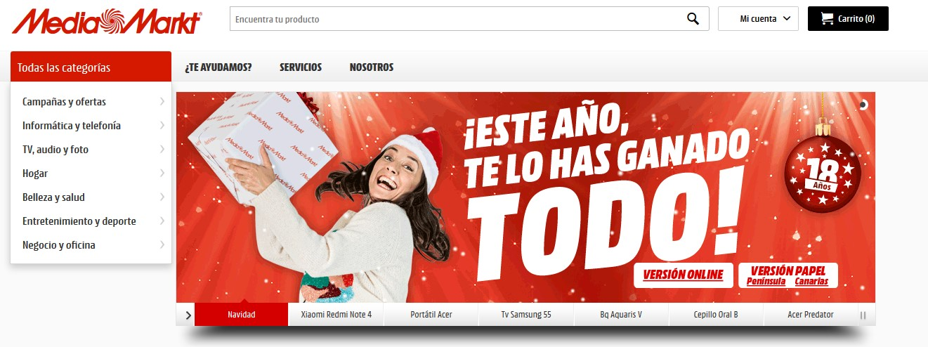 Diseño web de Navidad