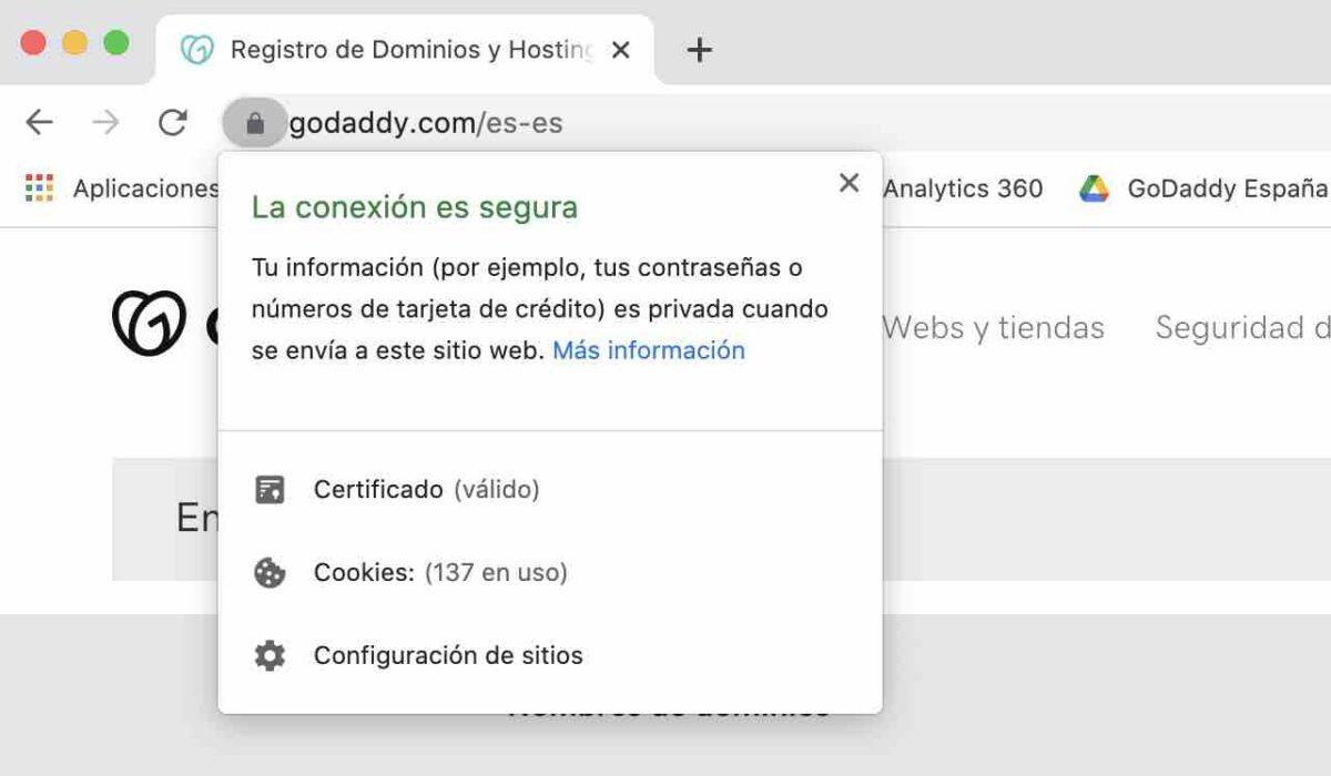 Ejemplo de URL con HTTPS