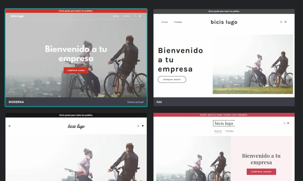 Imagen de personalización de los planes de Páginas web + Marketing