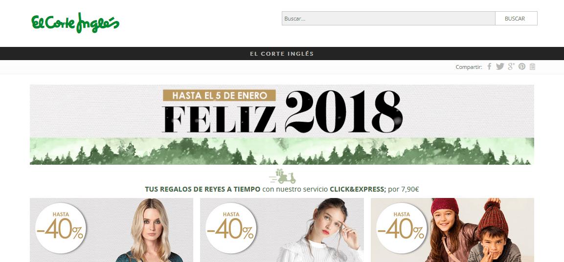 Estrategia de marketing digital El Corte Inglés Navidades 2017