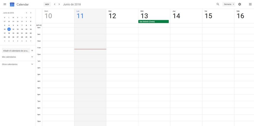 Imagen de Google Calendar, una herramienta para organizar las tareas que debes realizar en tu trabajo