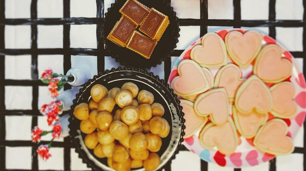 Ideas para San Valentín: Galletas en forma de corazón