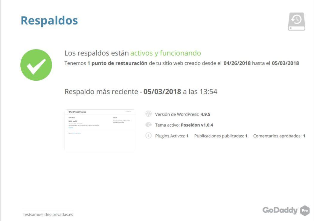 Imagen del PDF de Informe de cliente que se genera en Pro Sites