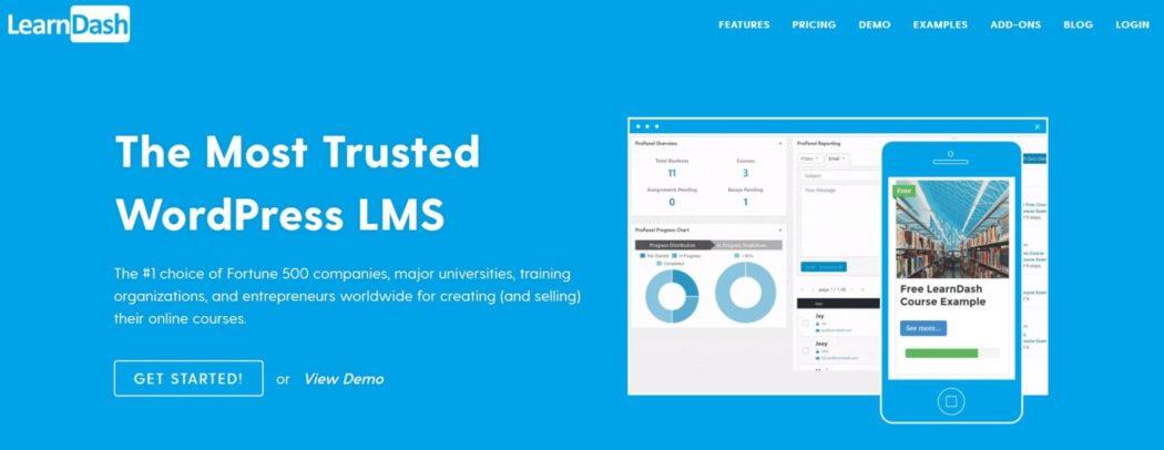 Imagen de la página principal de LearnDash