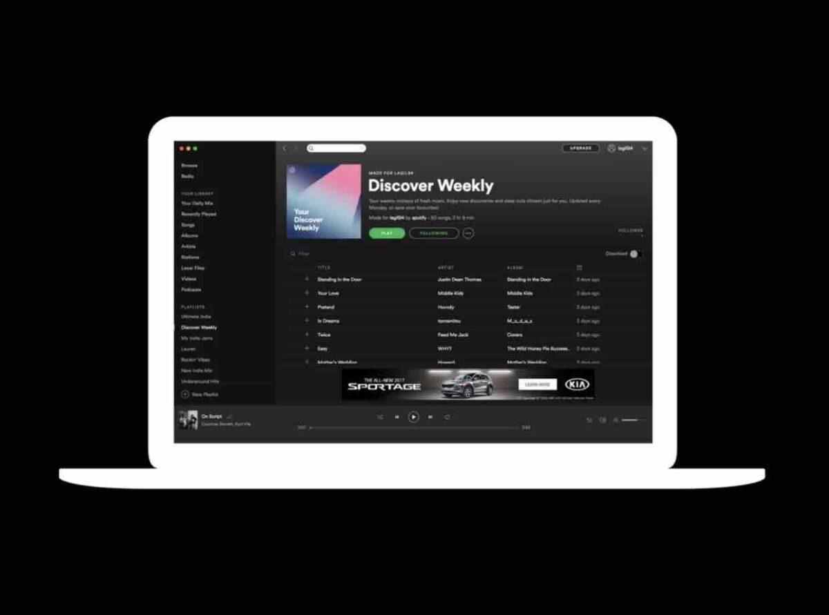 Megabanner de Spotify
