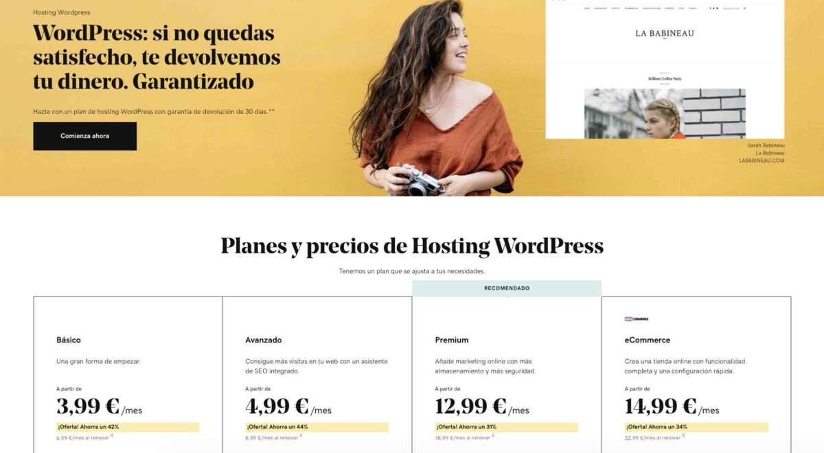 Hosting WordPress para blog