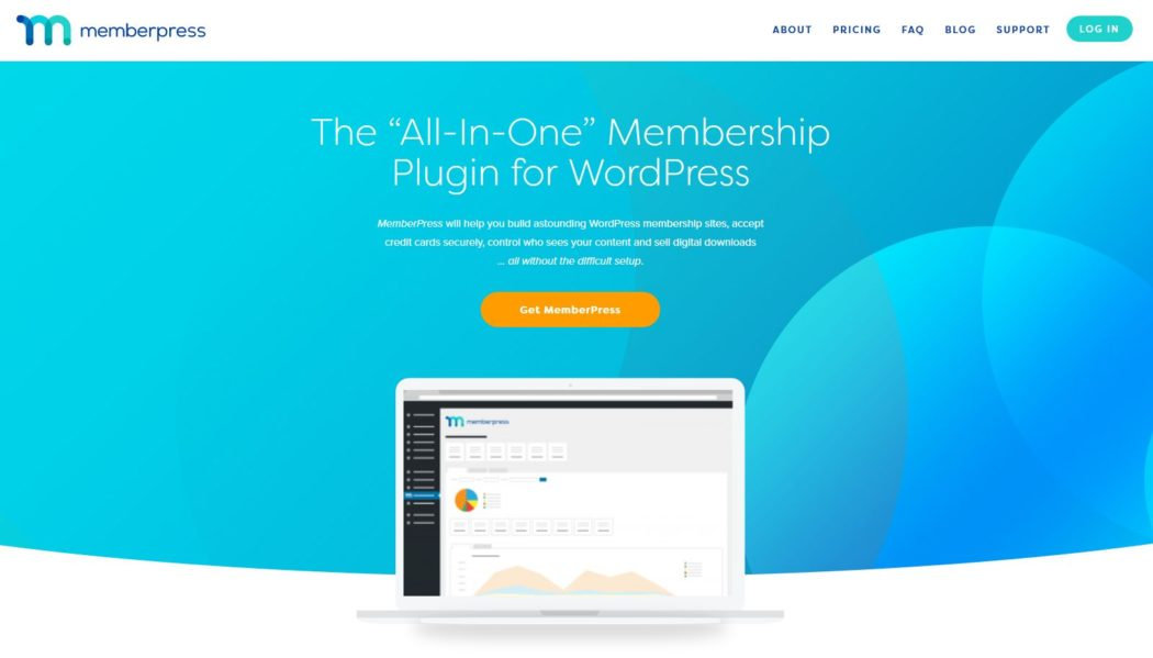 Imagen de la página principal de MemberPress, un plugin para crear un membership site de primer nivel
