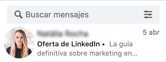 Mensajes patrocinados en LinkedIn Ads