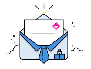 Imagen de un sobre abierto con una carta dentro