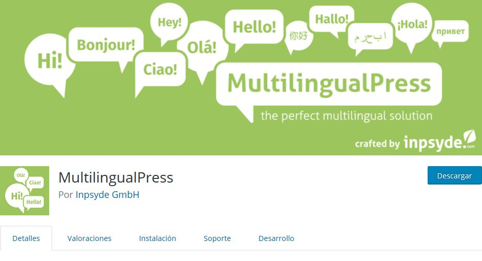 Imagen de portada de Multilingual Press, otro plugin para idiomas de WordPress