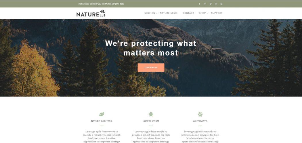naturelle plantillas gratis landing pages