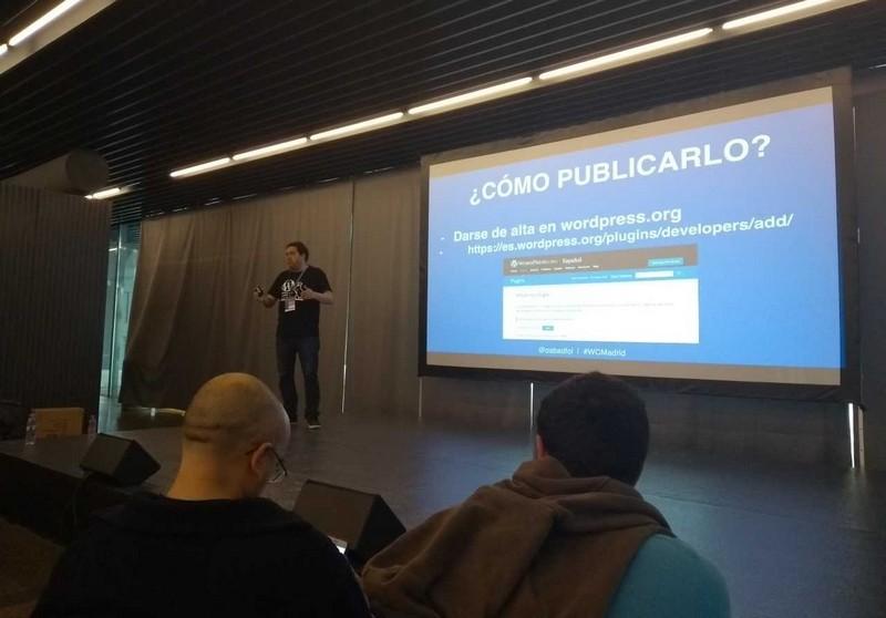 Ponencia de Óscar Abad Folgueira en la WordCamp Madrid 2018