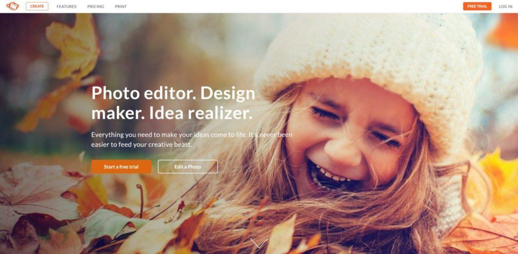 Imagen de la web de PicMonkey, un servicio que permite guardar en la nube tus fotografías e imágenes retocadas