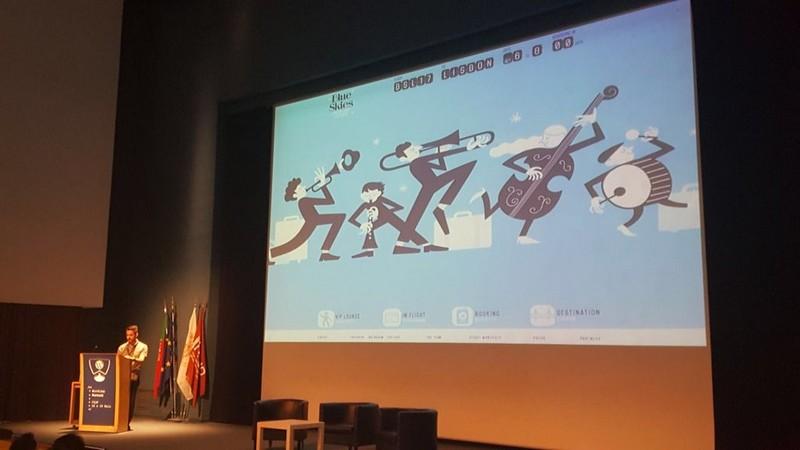 Imagen de la ponencia de Miguel Fonseca en la WordCamp Porto 2018