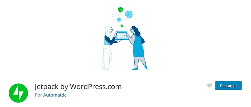 Imagen de la portada del plugin Jetpack en la web de WordPress.org