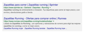 Seo técnico para WordPress Ejemplo breadcrumbs
