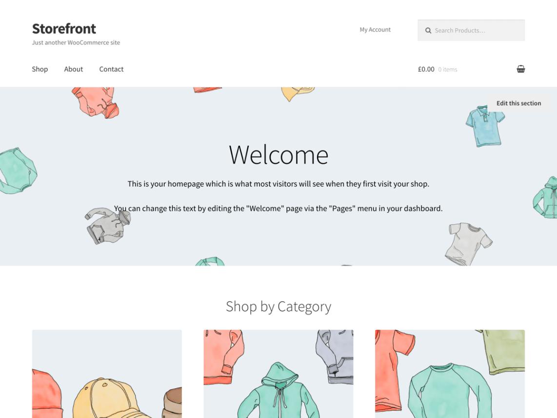 Storefront plantillas gratis WordPress