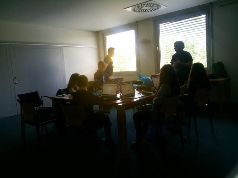 Imagen del taller infantil en la WordCampo Porto 2018