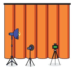 Imagen de un telón cerrado como introducción a hablar de la rentabilidad del hosting web